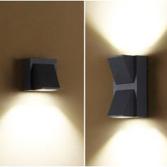 LED Wall Lamp IP65 Outdoor Waterproof Garden Porch Lighting Lamp 5W 10W Modern Simple Aluminum Indoor Wall Light