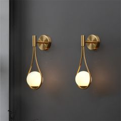 Modern LED Wall Lamps Metal Living Room Lamp Fashion Nordic Bedside Glass Wall Lamp Bedroom Decoration Lighting