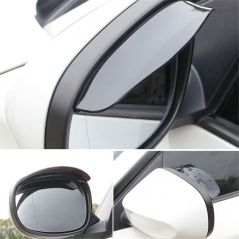 2Pcs Universal Rearview Mirror Rain Eyebrow PVC Auto Mirror Rain Shield Shade Cover Protector Guard PVC Rainproof Blade New 2020