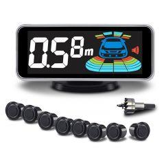 Car Parking Sensor Automobile Reversing Radar Parktronic 8 Sensors Electronics Auto Detector Backing Assistance Kit Voice Buzzer