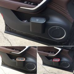 Car Trash Can Interior Organizer Storage Box Car Garbage Bag Press Sealed Trash Can Auto Storage Bin Accessories