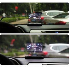 """Vjoycar V41 Newest Head Up Display Car OBDII EUOBD 5.5"""" Windshield Projector HUD Display Shift Reminder Water Temp. RPM KM/H MPH"""