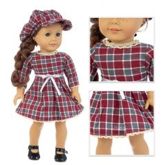2020 New Hot Sale American Fit 18 inch Girl Baby New Born Doll clothes 43 cm Hat One-Piece Suit For Baby Birthday Gift