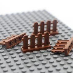 City Accessories Building Blocks House Parts Fence Stair Ladder Pillar Wall Creator MOC Bricks For Figure Model Toys