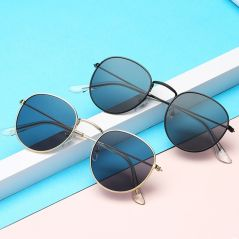 LeonLion 2021 Fashion Retro Sunglasses Men Round Vintage Glasses for Men/Women Luxury Sunglasses Men Small Lunette Soleil Homme