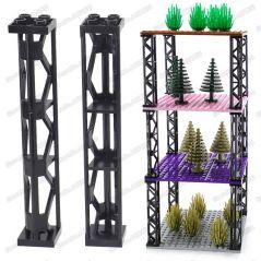 Long shape Four holes Building Blocks pillar DIY Place the cabinet Blocks MOC City high-rise military ww2 set Building Block toy