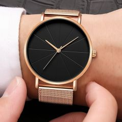 2020 Minimalist Men's Fashion Watches Simple Men Business Ultra Thin Stainless Steel Mesh Belt Quartz Watch reloj hombre