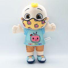 BIG JJ Music Plush Doll Cocomelon Pillow Soft Toys for Baby Plush JJ Doll Educational Stuffed Sing Toys Cute Kids Gift