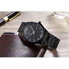 Men Watch Top Brand Luxury Calendar Stainless Steel Quartz Fashion Business Full Black Waterproof Watches Relogio Masculino