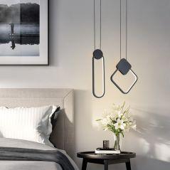 Modern hanging LED Pendant Lamp 12W Aluminum Fixtures Pendant lights for Kitchen Restaurant Bar living room bedroom AC85-265V