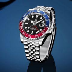 PAGANI DESIGN GMT Watches 40mm Rotating Bezel Men's Mechanical Watch Sapphire Glass Top Brand 100M Waterproof Watch Business Men