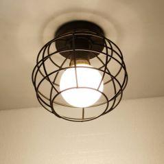 Vintage LED E27 Celing Light Modern Nordic Retro Iron lamp Decor For Living Room Bar Black Loft E27 Home Lights Cage Fixture