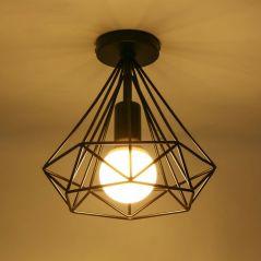 E27 Metal Ceiling Lights Black Retro Dinning Room Bedroom HangLamp Iron Ceiling Lights Fashion Scandinavian Chandelier