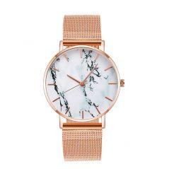 Fashion Rose Gold Mesh Band Creative Marble Female Wrist Watch Luxury Women Quartz Watches Gifts Relogio Feminino Drop Shipping