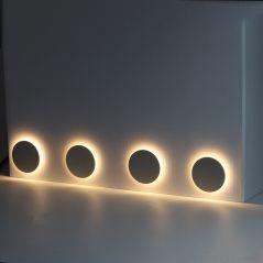 Led Wall Lamp Aluminum Indoor Outdoor IP67 Waterproof Wall Light  Recessed Stair Bedroom Bathroom Corridor Wall Sconce DC12-24V