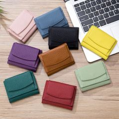 New Women Genuine Leather Purses Female Cowhide Wallets Lady Small Coin Pocket Rfid Card Holder Mini Money Bag Portable Clutch