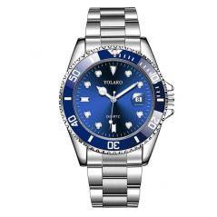 Hot Sales Mens Watches Date Sport Quartz Analog Wrist Watch Military Stainless Steel Top Brand 2020 Yolako Luxury Fashion Men