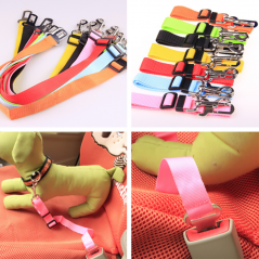 Adjustable Dog Cat Car Safety Belt Pet Vehicle Seat Belt Leash For Dogs Travel Traction Collar Harness Dog Lead Clip pet product