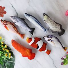 Moving Fish Cat Toy Electronic Flopping Cat Kicker Fish Toy Catnip Fish Toys for Cats Pet Supplies Funny Chew Toy for Indoor Cat