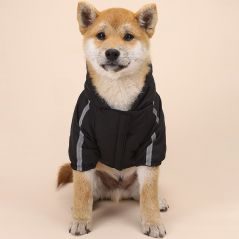 Pet Dog Winter  Waterproof Coat Puppy Warm Jacket The Dog Face Hoodie Reflective Clothing For Small Medium Dogs Cat Pet Clothes