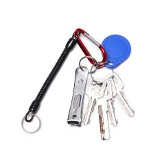 1PCS Keychain Tactical Retractable Spring Elastic Rope Security Gear Tool Hiking Camping Anti-lost Phone For Outdoor Hiking Camp