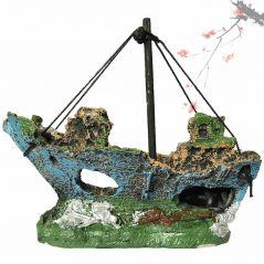 2019 Hot Aquarium Fish Tank Landscape Pirate Ship Wreck Ship Decor Resin Boat Ornament Aquarium Accessories Decoration #Y5