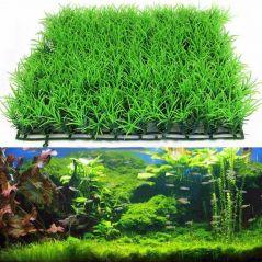 Eco-Friendly  Aquarium Ornaments Artificial Water Plastic Green Grass Plant Lawn Aquatic Aquarium Fish Tank Decor