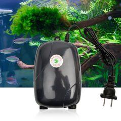 NICREW Aquarium Air Pump Fish Tank Mini Compressor Single Double Outlet with Check Valve Tube Aquatic Accessories 220V 3W 5W