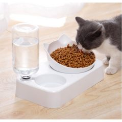 Pet cat Bowl Automatic water Feeder Dog Cat Food Bowl Water Dispenser Double Bowl Drinking Raised Stand Dish Bowls Pet supply