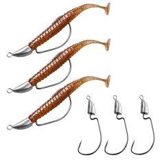 Thkfish Lead Head Fishing Hooks 5g 7g 10g 14g Bullet Jig Head hooks Sliver Weedless Offset Worm Hooks Texas Rigs Accessories