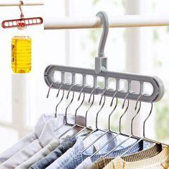 9-hole Clothes hanger organizer Space Saving Hanger multi-function folding magic hangers drying Racks Scarf clothes Storage