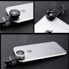 Fish Eye Lens Wide Angle Macro Fisheye Lenses 3 in 1 Camera Lens Kits With Clip Zoom Mobile Phone Lense For iPhone Xiaomi Huawei