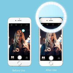 Selfie LED Ring Fill Light Portable Mobile Phone 36 LEDS Selfie Lamp 3 levels Lighting Luminous Ring Clip For All Cell Phones