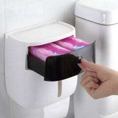 Waterproof Toilet Paper Holder Plastic Paper Towels Holder Wall Mounted Bathroom Shelf  Storage Box Portable Toilet Roll Holder