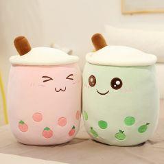real-life bubble tea plush toy stuffed food milk tea soft doll boba fruit tea cup pillow cushion kids toys birthday gift