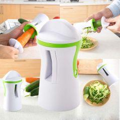 LMETJMA Heavy Duty Spiralizer Vegetable Slicer Vegetable Spiral Slicer Cutter Zucchini Pasta Noodle Spaghetti Maker KC0335