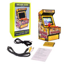 """Mini Arcade Game 156 Classic Handheld Games Portable for Kids & Adults 2.8"""" Eye-Protected Colorful Screen & Rechargeable Battery"""