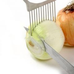 Onion Fork Stainless Steel Onion Needle Vegetable Fruit Slicer Handheld Knife Cutting Safety Auxiliary Kitchen Accessory Tools