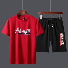 Men's Tracksuit Summer Clothes Sportswear Two Piece Set T Shirt Shorts Brand Track Clothing Male Sweatsuit Sports Suits Husband