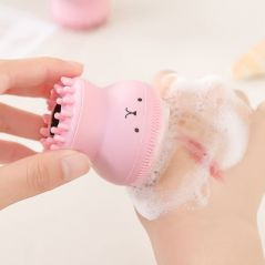 Silicone Small Octopus Facial Cleansing Brushes Face Deep Cleaning Washing Brush Massage Beauty Instrument Clean Pores/Exfoliate