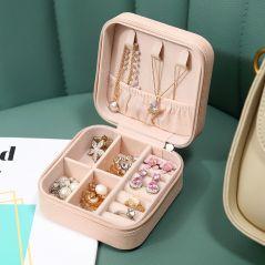 2021 Jewelry Organizer Display Travel Jewelry Case Boxes Travel Portable Jewelry Box Leather Storage Organizer Earring Holder