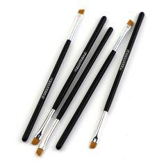 5Pcs Professional Black Eyebrow Inclined Flat Angled Brush Makeup Tool Wooden Pole Eyeliner Eyeshadow Eye Brow Women Cosmetic
