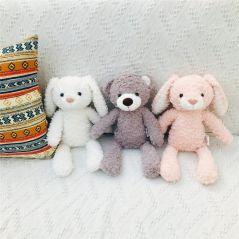 Cute Teddy Bear Doll Rabbit/ Unicorn/ Elephant Plush Toy High Quality Appease Doll Soft Sleeping Accompany Gift For Newborn Kids