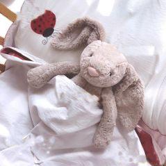 Soft Stuffed Animals Kids Long Ear bunny Rabbit Sleeping Cute Cartoon Plush Toy Stuffed Animal Dolls Children Birthday Gift